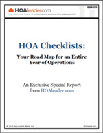HOA Checklists: Your Road Map for an Entire Year of Homeowner Association Operations