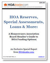 HOA Reserves, Special Assessments, Loans & More: A Homeowners Association Board Member's Guide to HOA Funding Options