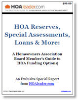 HOA Reserves Special Report Cover