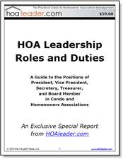 HOA Leadership Roles and Duties